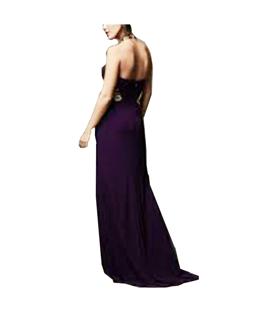 Laura Purple Floral Gown - Boro Dress Rentals