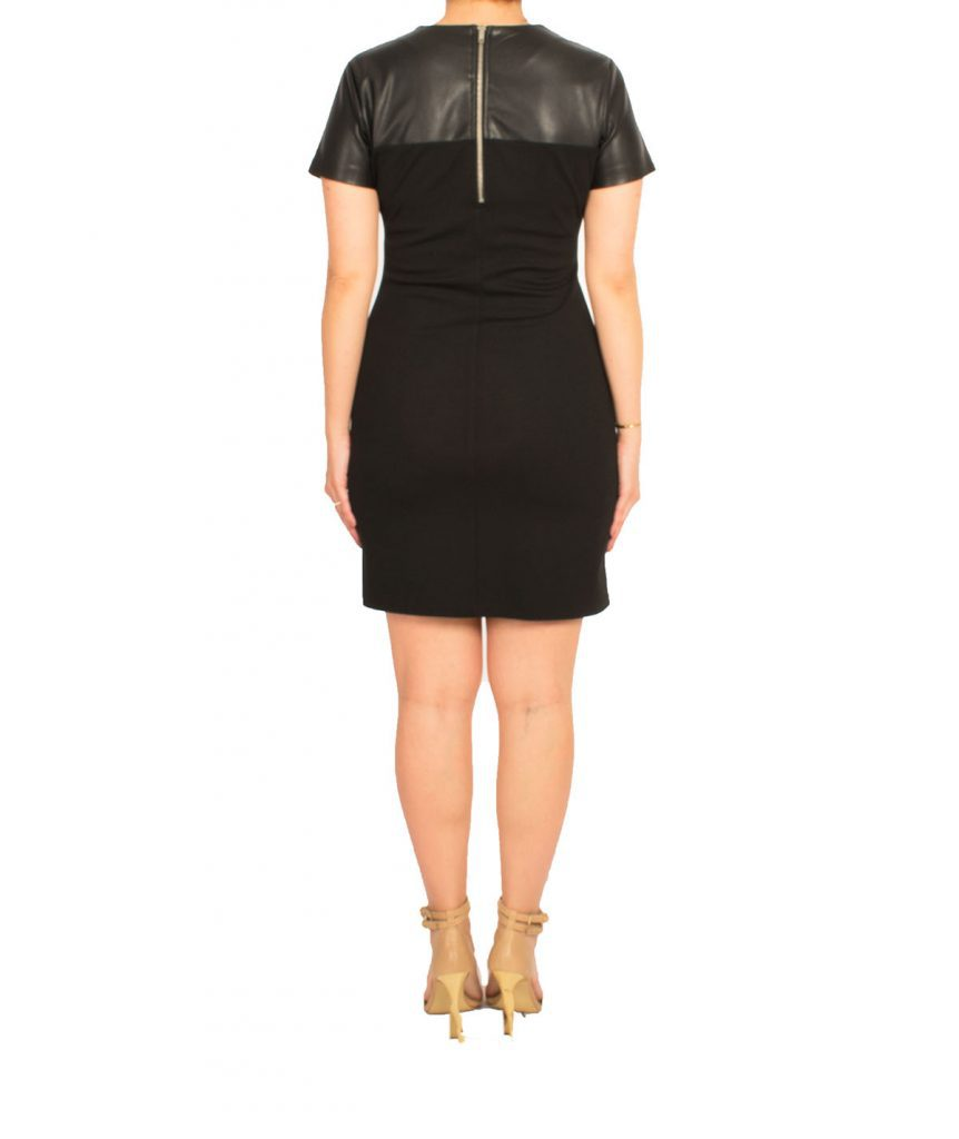 Jack Leather Sleeve Dress - Boro Dress Rentals