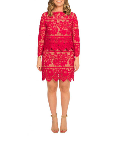 For Love & Lemons Red 2-Piece - Boro Dress Rentals