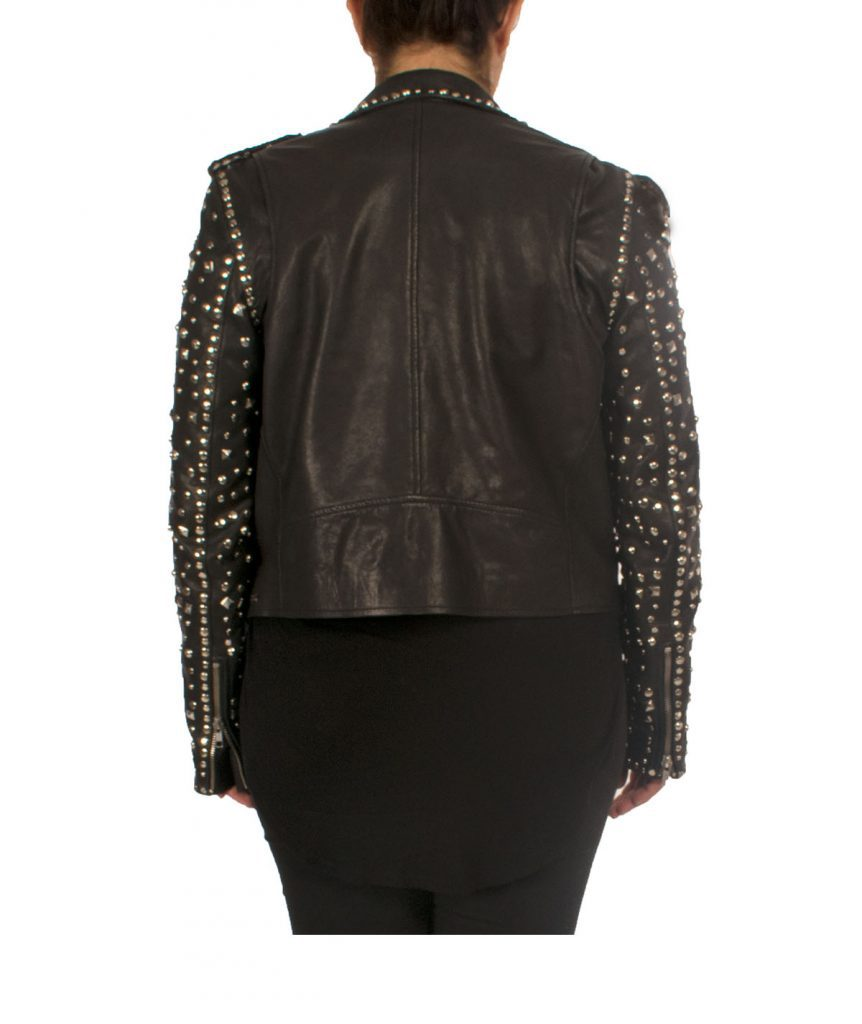 Maison Scotch Studded Leather