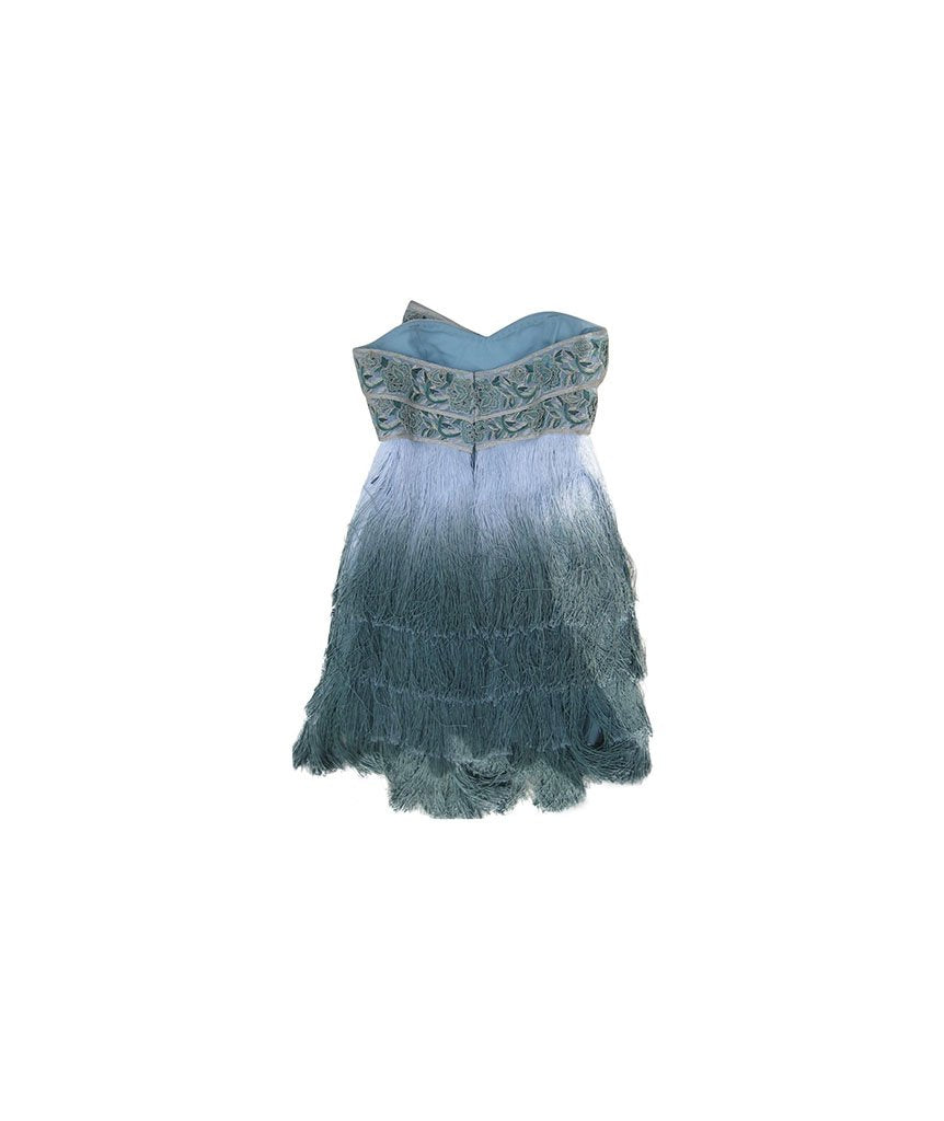 Marchesa Ombre Fringe - Boro Dress Rentals