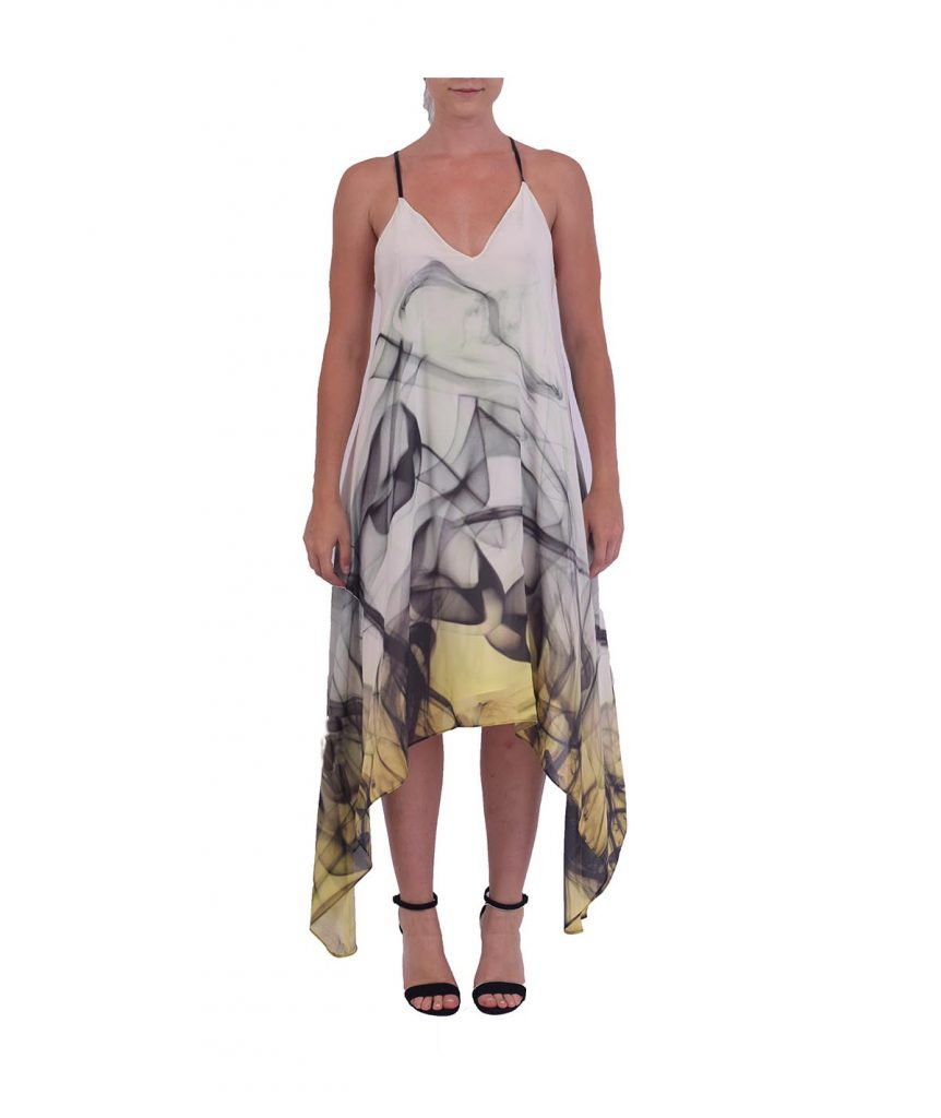 Milly White & Yellow Flowy - Boro Dress Rentals