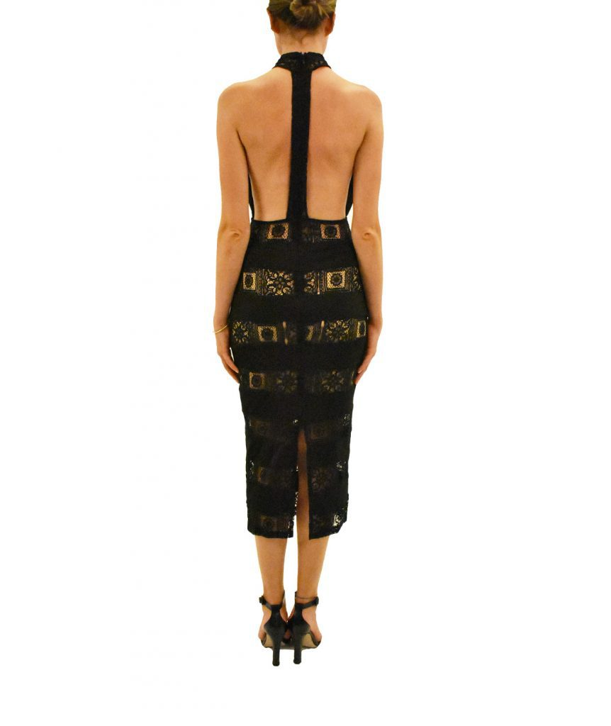 Misha Lace Open Back - Boro Dress Rentals