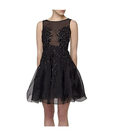 Narces Black Mesh & Beads - Boro Dress Rentals
