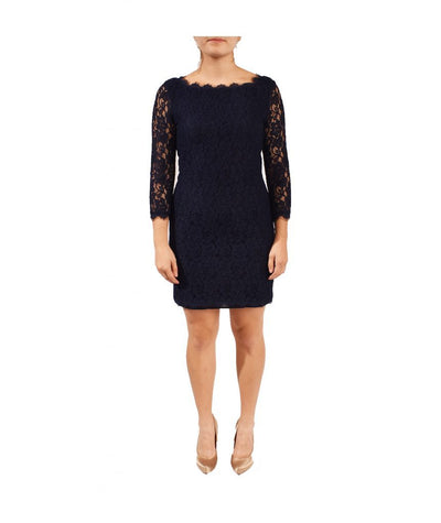Diane von Furstenberg Navy Lace - Boro Dress Rentals