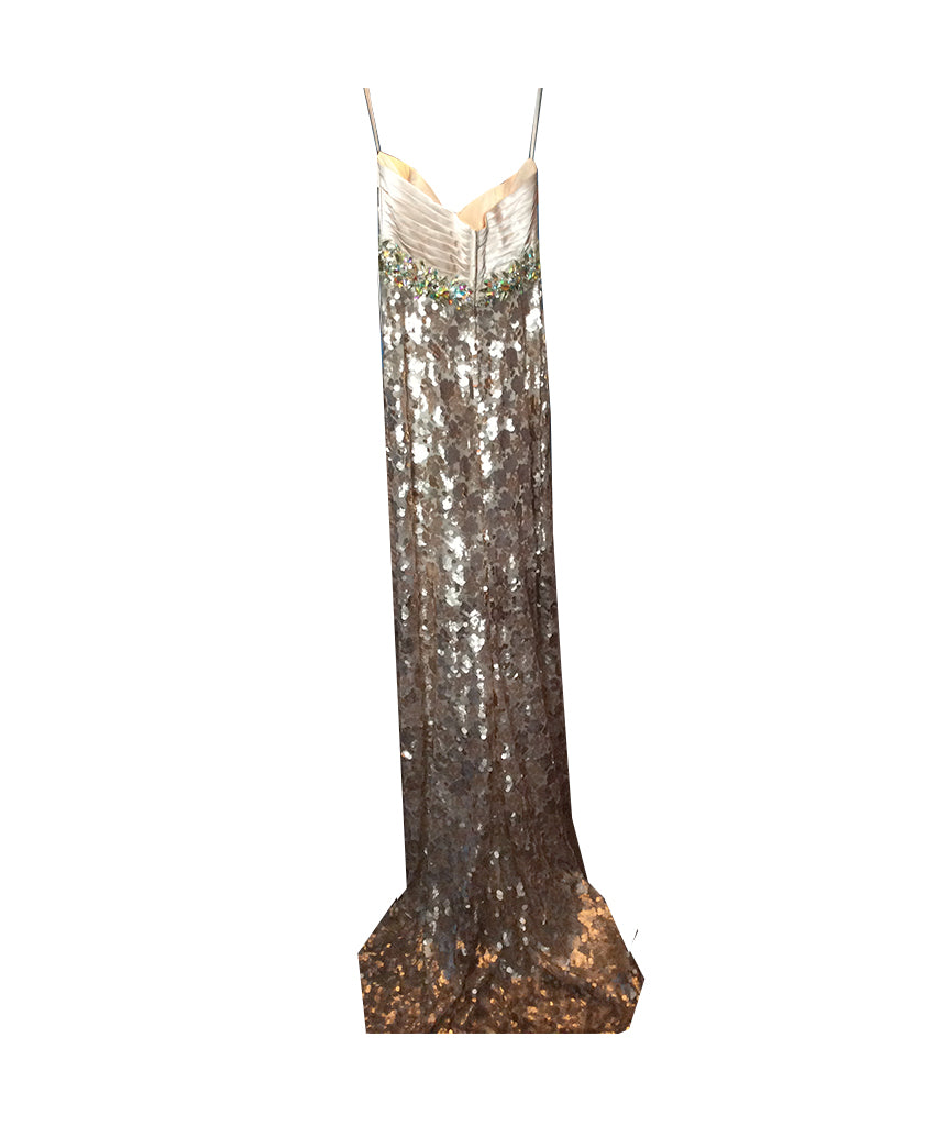 Night Mores Gold Sequin Gown