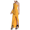 Premonition Design Yellow Statement High Slit Dress