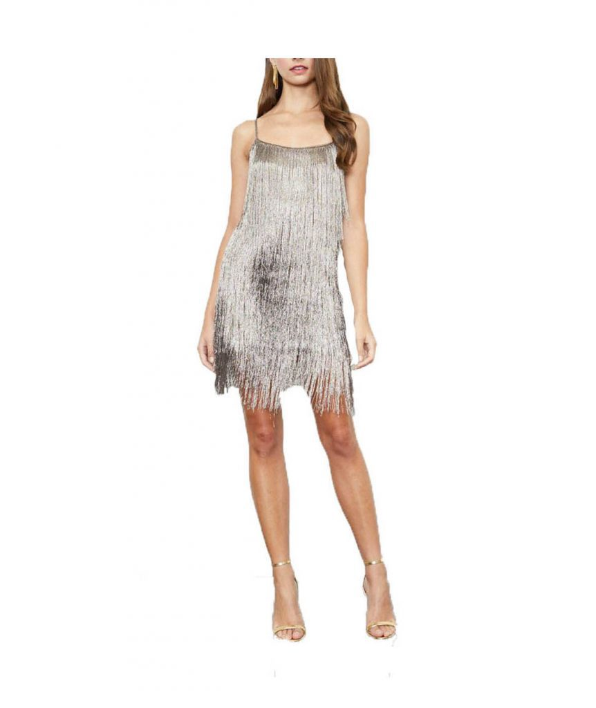 Rachel Zoe Metallic Fringe - Boro Dress Rentals
