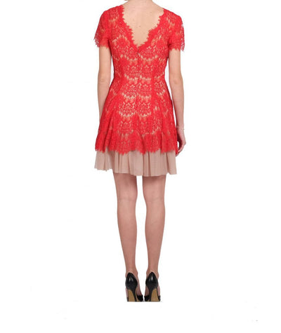 Betsy & Adam Red Lace - Boro Dress Rentals