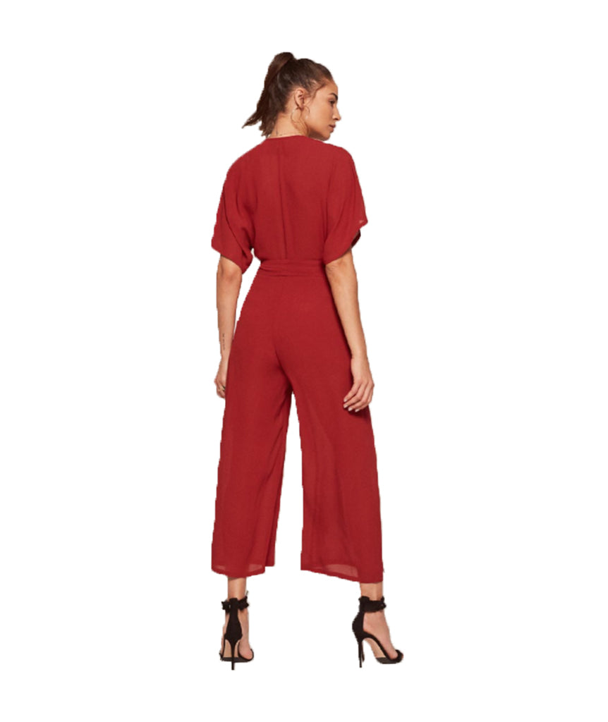 Reformation Crimson Romper - Boro Dress Rentals