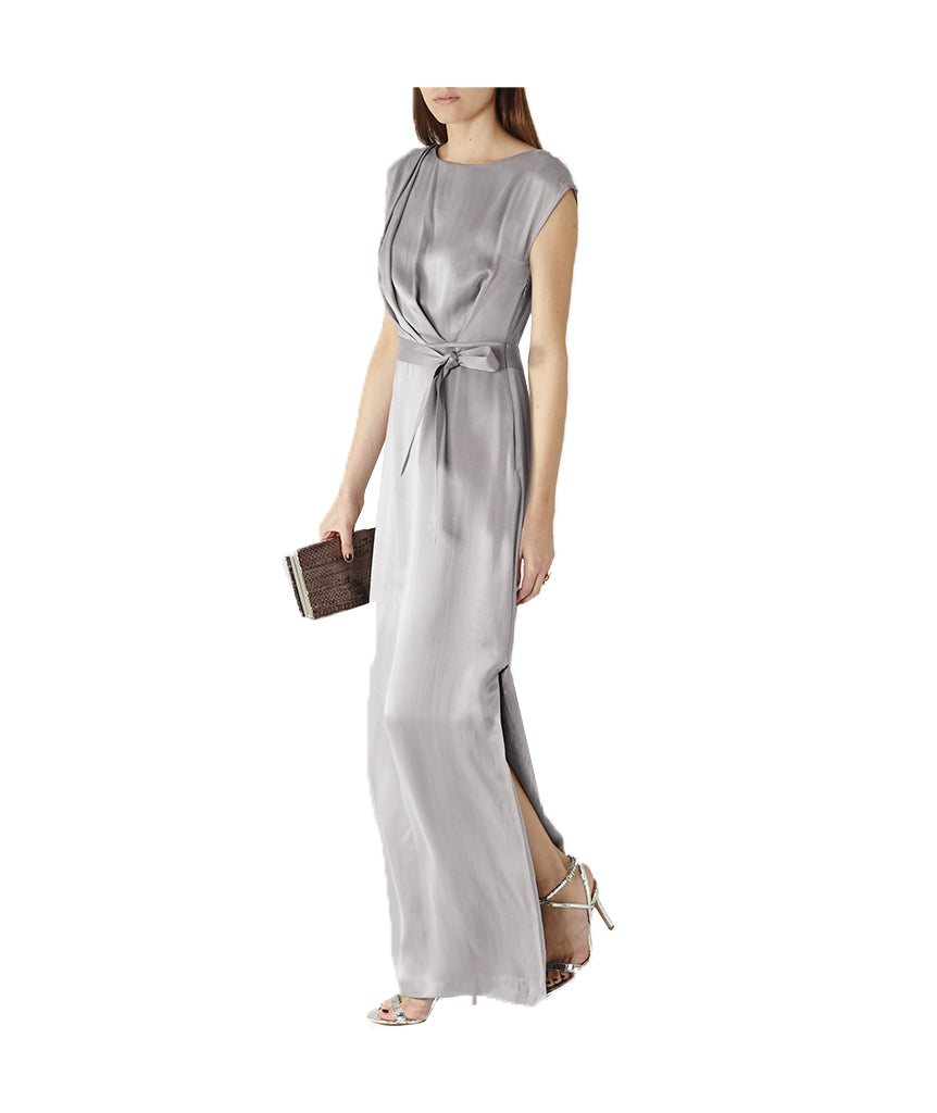 Reiss Silver Wrap Gown - Boro Dress Rentals