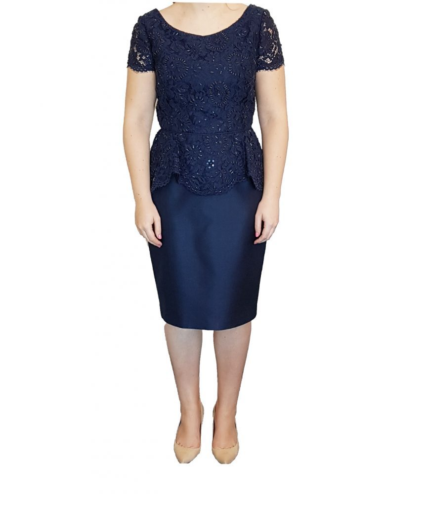 Ross Mayer Navy Lace - Boro Dress Rentals