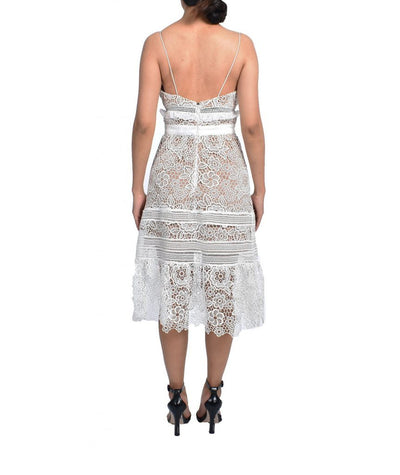 Self Portrait Lace Midi - Boro Dress Rentals