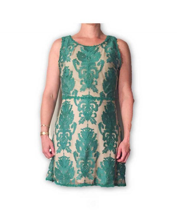 Sophie Max Turquoise Lace - Boro Dress Rentals