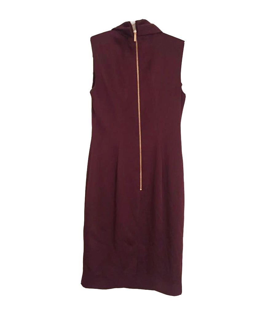 Ted Baker Burgundy Cross-front - Boro Dress Rentals
