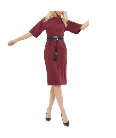 Ted Baker Burgundy with Belt - Boro Dress Rentals