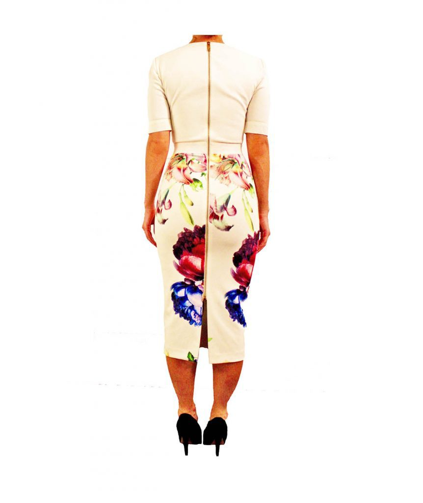 Ted Baker White Floral - Boro Dress Rentals