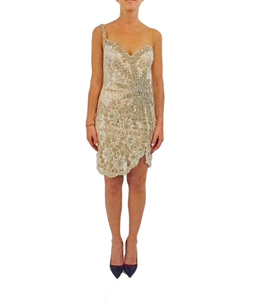 Terani Champagne Beads - Boro Dress Rentals