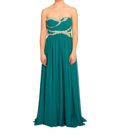 Shahani Turquoise Gown - Boro Dress Rentals
