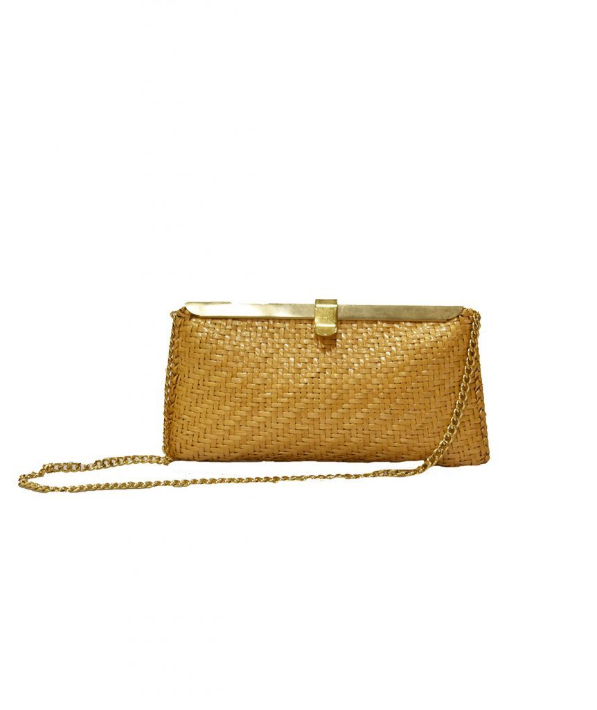 Woven Basket Clutch - Boro Dress Rentals