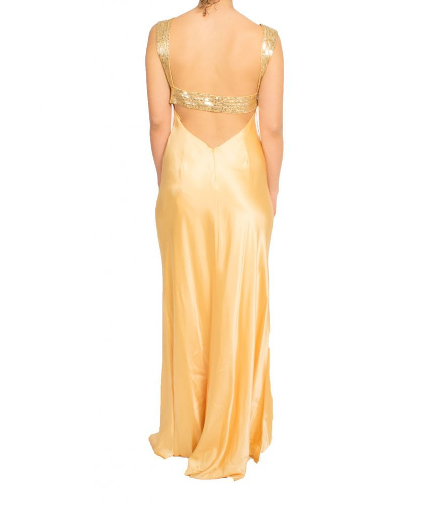 Niteline Silk Yellow Gown - Boro Dress Rentals