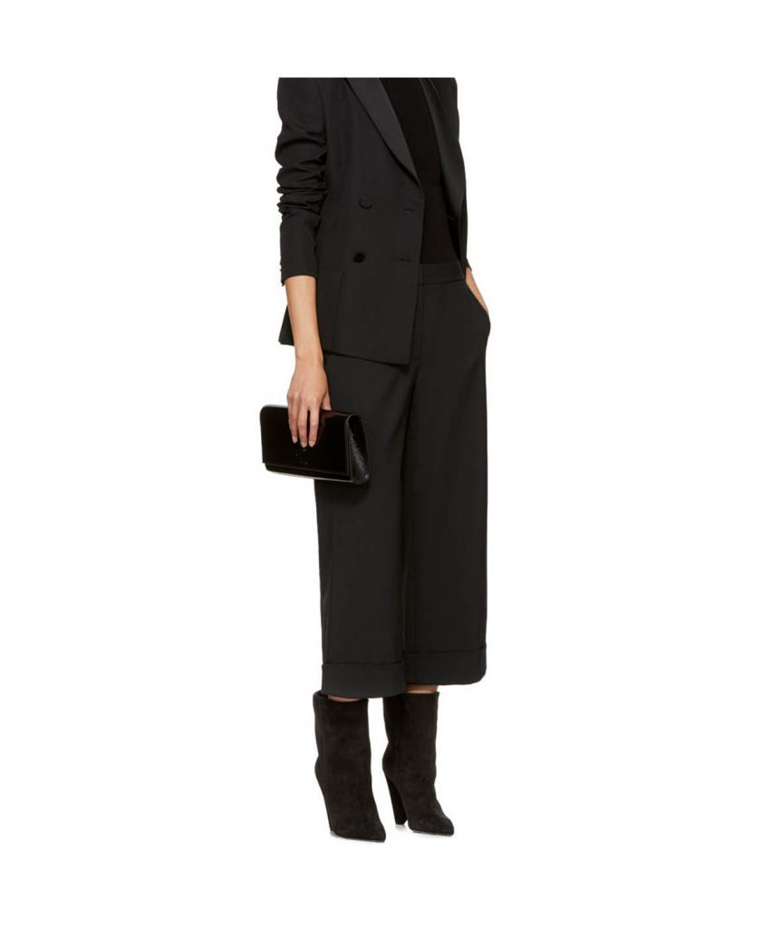 YSL Black Patent Clutch - Boro Dress Rentals
