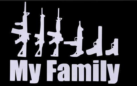 *FREE* Gun Family Bumper Sticker