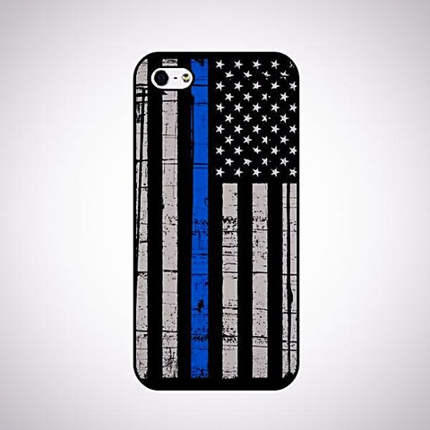 *FREE* Thin Blue Line Flag iPhone Case