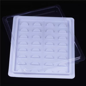 "empty lash tray  "" spaces for 16 pair """