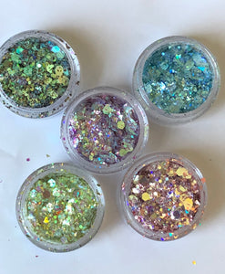 CHUNKY GLITTER BUNDLE 5pc