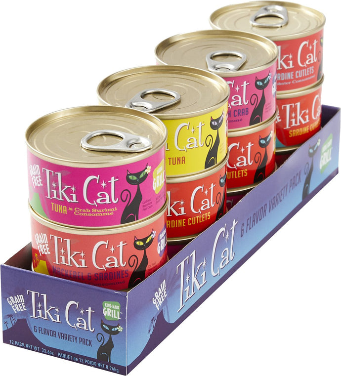 Tiki King Kamehm Variety Pack Cat Canned