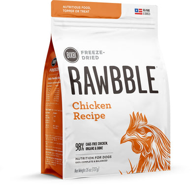 BIXBI Rawbble Chicken Recipe Freeze Dried Dog Food