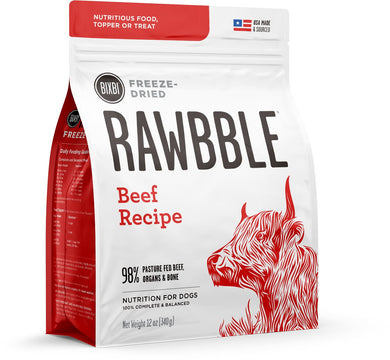 BIXBI Rawbble Beef Recipe Freeze Dried Dog Food