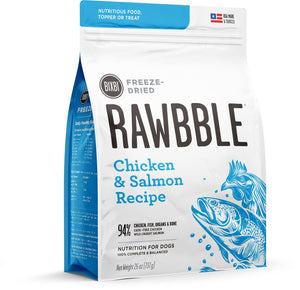 BIXBI Rawbble Salmon & Chicken Recipe Freeze Dried Dog Food