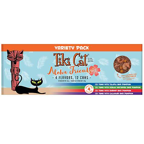 Tiki Aloha Friends Variety Pack Cat Canned