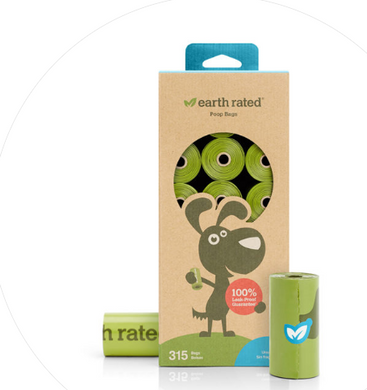 Earth Rated Unscented 21 Refill Rolls Poop Bags