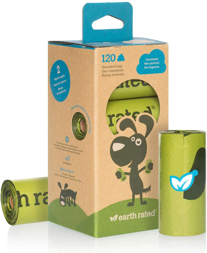 Earth Rated Unscented 8 Refill Rolls Poop Bags