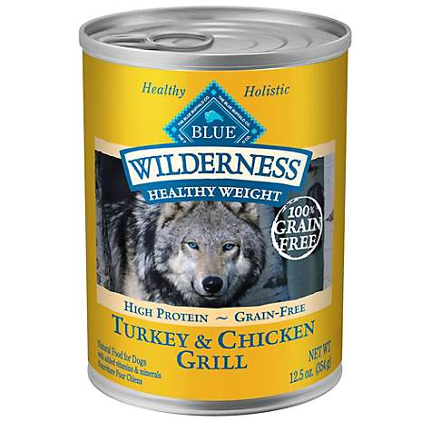 Blue Buffalo Wilderness Healthy Weight Adult Turkey and Chicken Grill Dog Canned