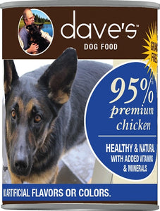 Daves 95% Chicken Dog Canned