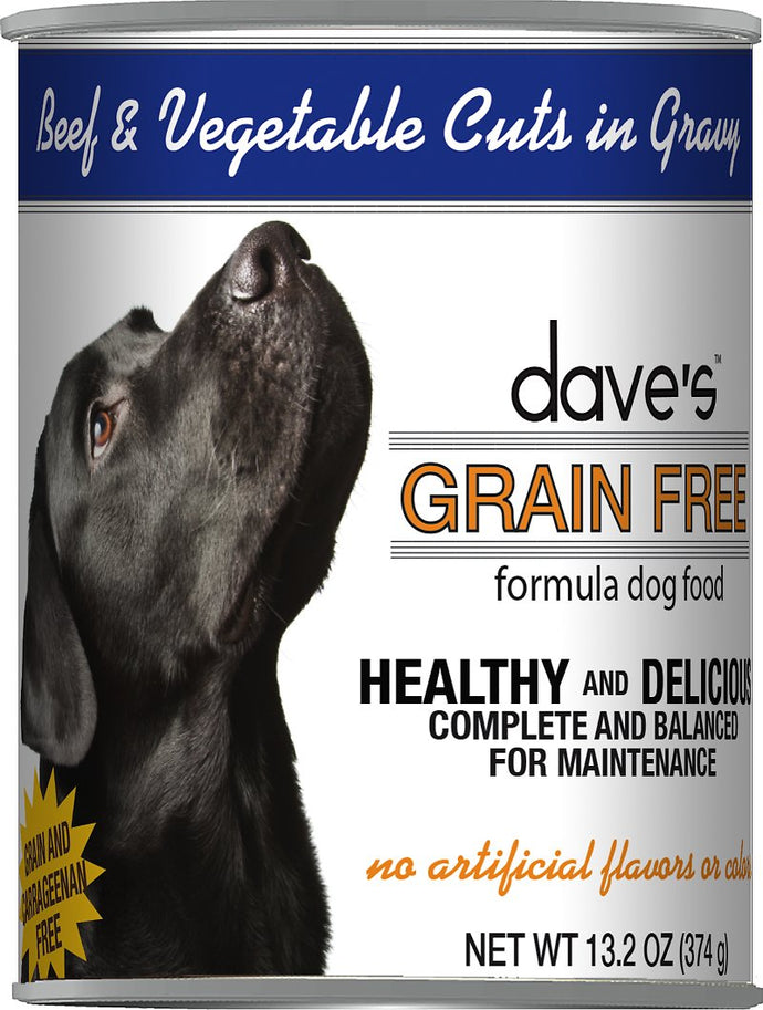 Daves Grain Free Beef and Vegetables Dog Canned