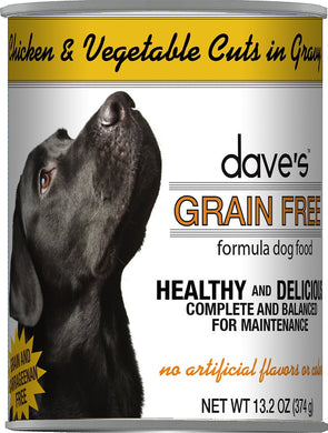 Daves Grain Free Chicken and Vegetables Dog Canned