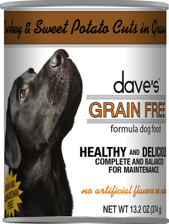 Daves Grain Free Turkey and Sweet Potato Dog Canned