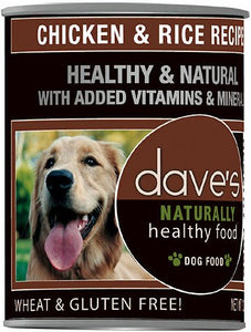 Daves Naturally Healthy Chicken and Rice Dog Canned