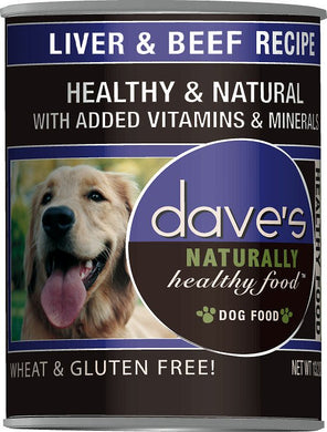 Daves Naturally Healthy Liver and Beef Dog Canned