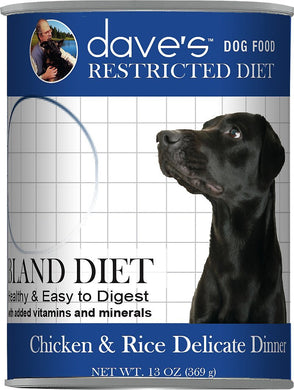 Daves Restricted Diet Chicken and Rice Dog Canned