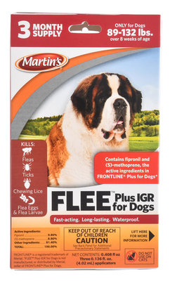 Martin's FLEE Plus IGR for Dogs 89-132lbs.