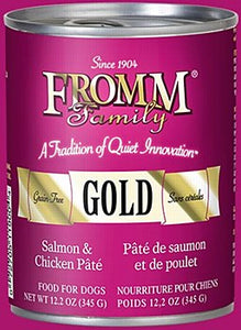 Fromm Gold Salmon and Chicken Pate Dog Canned