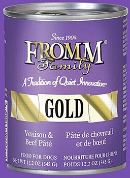 Fromm Gold Venison and Beef Pate Dog Canned
