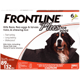 Frontline Plus for Dogs 89-132lbs.