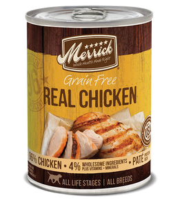 Merrick Grain Free Real Chicken Dog Can